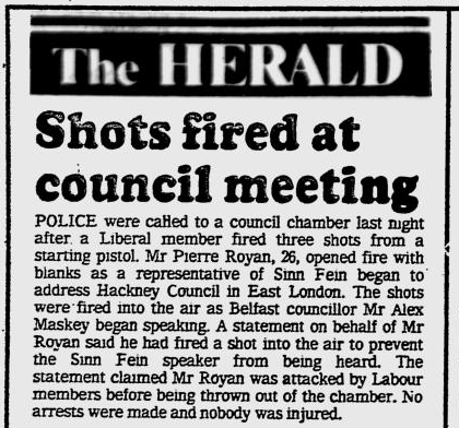 Glasgow Herald, October 23rd 1986