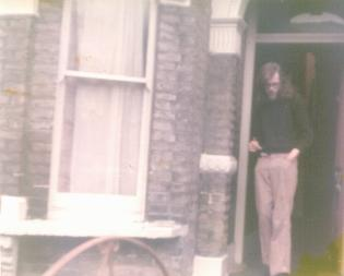 Photo of Andrew Roberts at doorway of Farquharson House