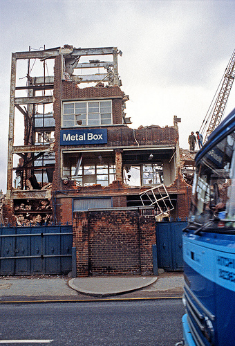 Demolition of Metal Box factory on Urswick Road (c) Alan Denney