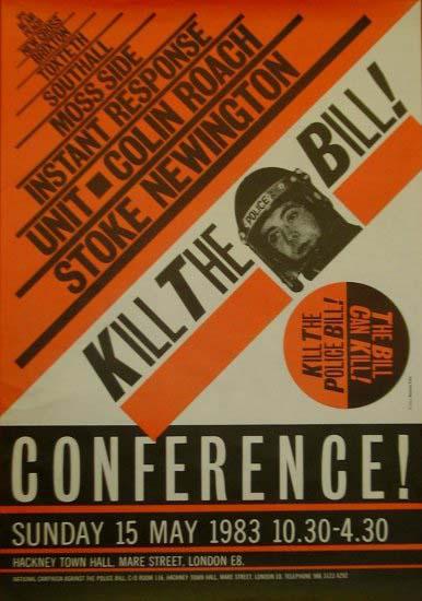 Kill the Police Bill. 1983